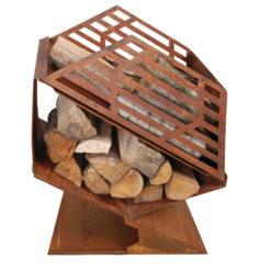 Buitenhaard - Corten met houtopslag - S - Esschert Design-0