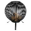 Esschert Design - Vuurkorf Vuurbal Strepen Zwart (1)